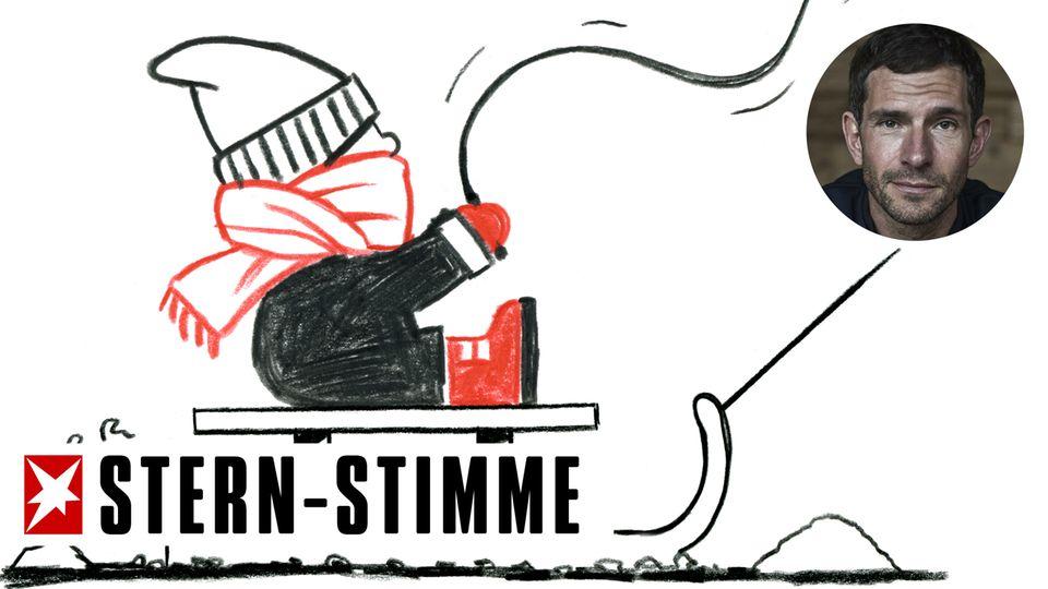 M. Beisenherz: Sorry, ich bin privat hier: Schneeball, Schneeadler, Schlitten fahren: Alle müssen nochmal raus!