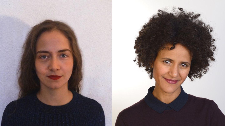 Zwei Potraits von Frauen nebeneinander, beide lächeln