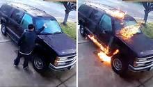 Stockton: Unbekannter zündet Auto an