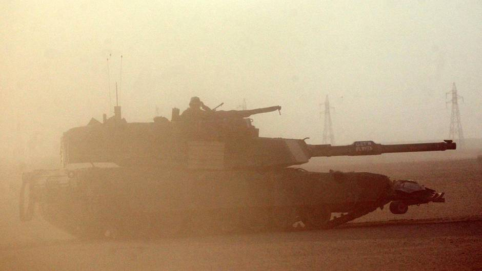 Us Army Tank in Iraq War