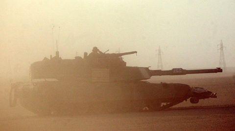 Us Army Tank in Iraq War