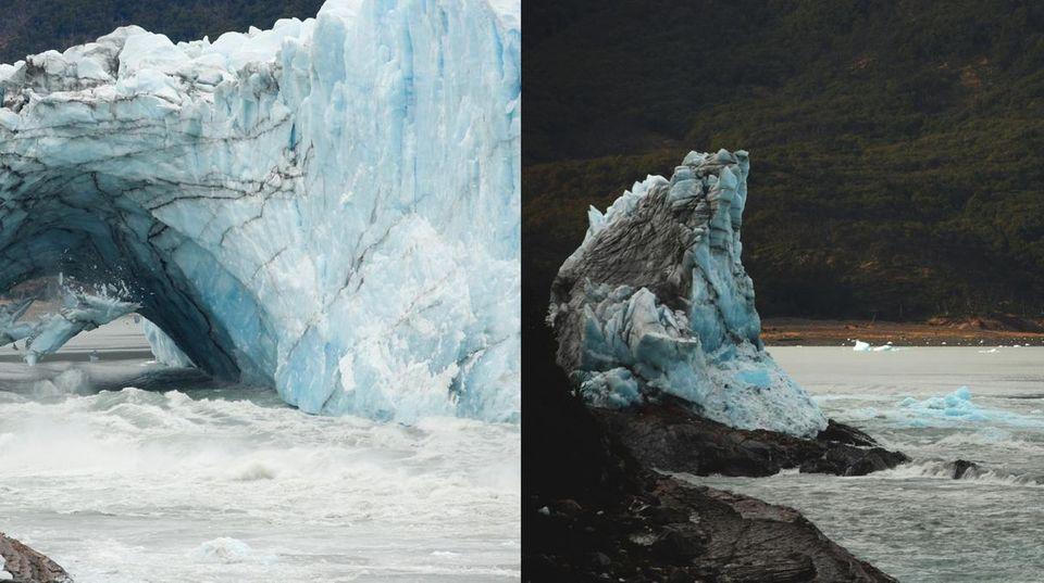 Gletscher Perito Moreno Argentinien - Die Eisbrücke ist wieder einmal eingesürzt
