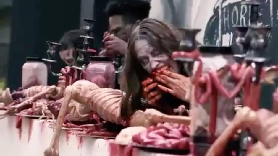 """Großbritannien: """"The-Walking-Dead"""" mit Loop - Achterbahn trifft auf Zombies"""