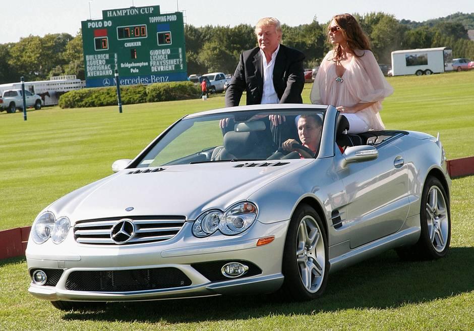 Posing im Mercedes: Donald und Melania bei einem Polo-Turnier 2007
