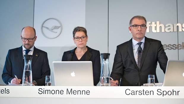 Erste Frau im Lufthansa-Vorstand: Simone Menne mit Carsten Spohr