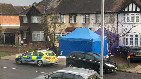 Ein Wohnhaus in Südwesten von London: Hier wurde Nikolai Gluschkow tot aufgefunden
