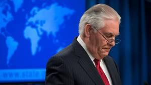 Rex Tillerson nimmt Abschied nach seinem Rauswurf