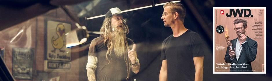 Joko Winterscheidt trifft Porsche-Sammler Magnus Walker in Los Angeles.
