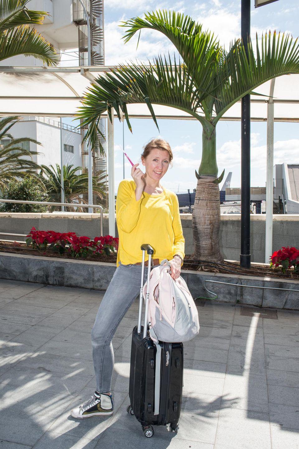 Urlaub mit fremdem Gepäck, nur Neles Zahnbürste darf mit.