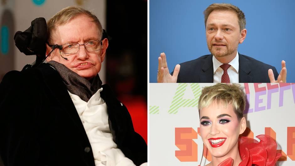 """Perry, Lindner und Co.: Trauer um Stephen Hawking: """"Ich spüre ein großes schwarzes Loch in meinem Herzen"""""""