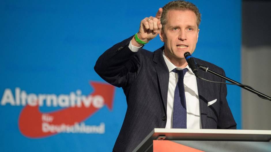 Petr Bystron hält eine Rede