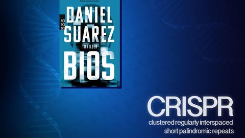 """US-Autor Daniel Suarez denkt in seinen Sience-Fiction-Romane aktuelle Grundlagenforschung konsequent weiter. Sein neustes Buch """"Bios"""" beschäftigt sich mit den Auswirkungen der Genetik, insbesondere der 2012 entwickelten Technik CHRISPR (gesprochen Chrisper)."""