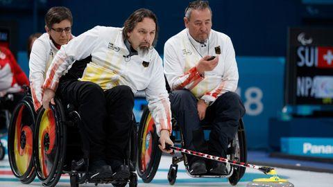 Die deutschen Rollstuhl-Curler bei den Paralympics 2018