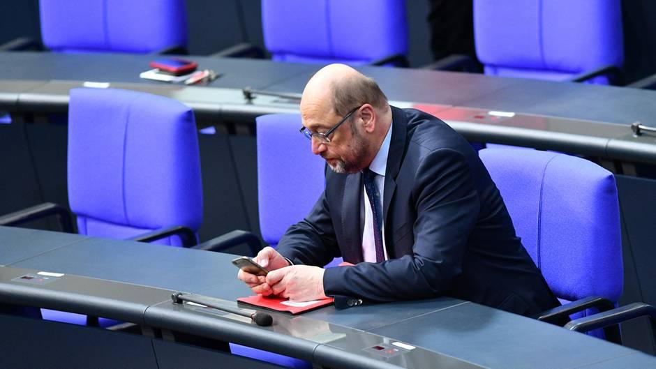 Martin Schulz im Bundestag