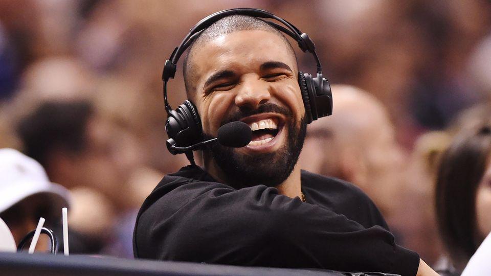 Rapper Drake am lachen