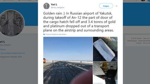 Flugzeugpanne in Russland: Goldregen in Sibirien: 172 Goldbarren plumpsen aus Frachtflugzeug