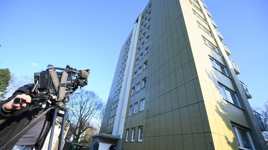 In diesem Wohnhaus in Offenbach wurde der mutmaßliche Entführer von Unternehmersohn Markus Würth festgenommen
