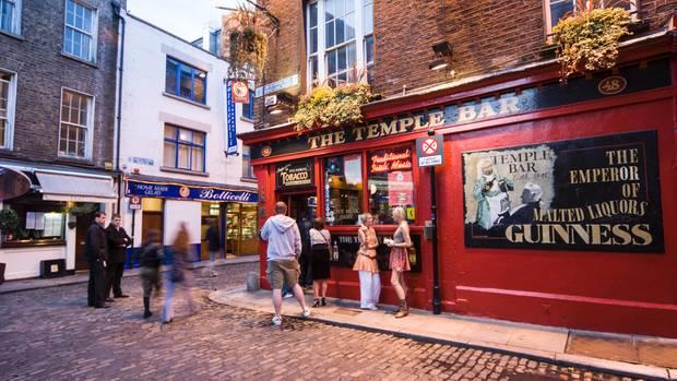 Die Temple Bar heißt wie das Touristenviertel