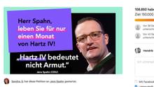 Screenshot der change.org-Petition zu Jens Spahn