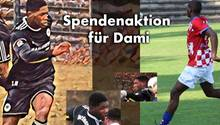 Der verstorbene Dami Camara auf dem Spendenaufruf auf GoFundMe
