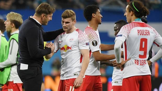 Hat sich im Gegensatz zum BVB in die Runde der letzten Acht in der Europa League gekämpft: der RB Leipzig