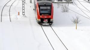 Zu viel Schnee in Leipzig: Der Hauptbahnhof musste komplett gesperrt werden (Symbolbild)