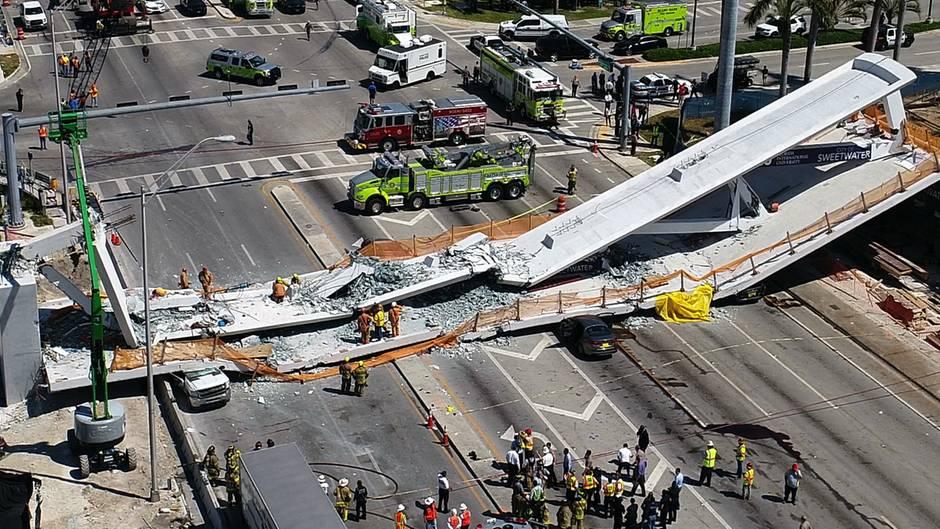 """Die Brücke in Miami war neu - der Chefingenieur warnte dennoch vor """"Rissen"""""""