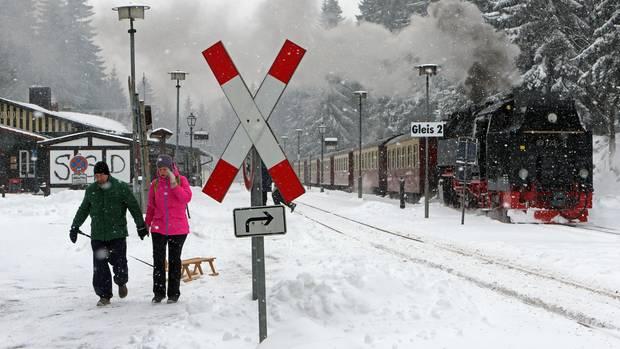Harzer Schmalspurbahn (HSB) stellte den Zugverkehr zum Brocken ein
