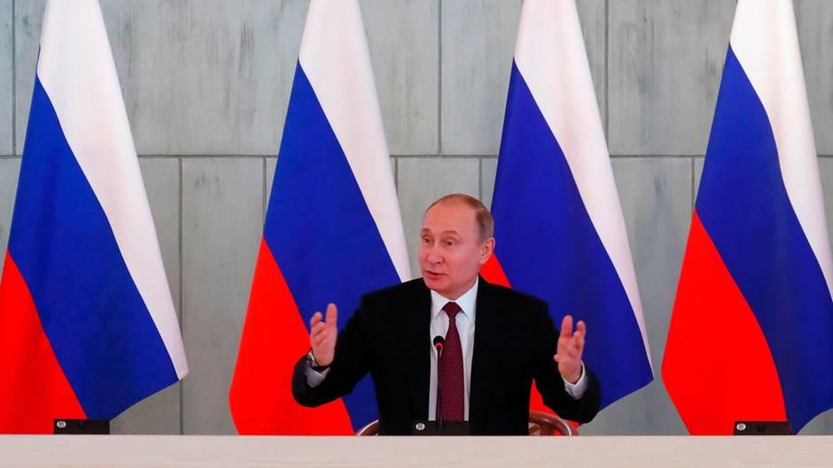Putin - Russland will keinen Rüstungswettlauf [1:23]