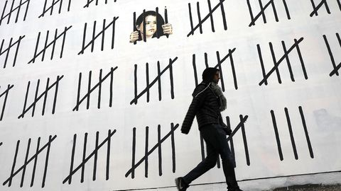 Banksy-Wandbild in New York