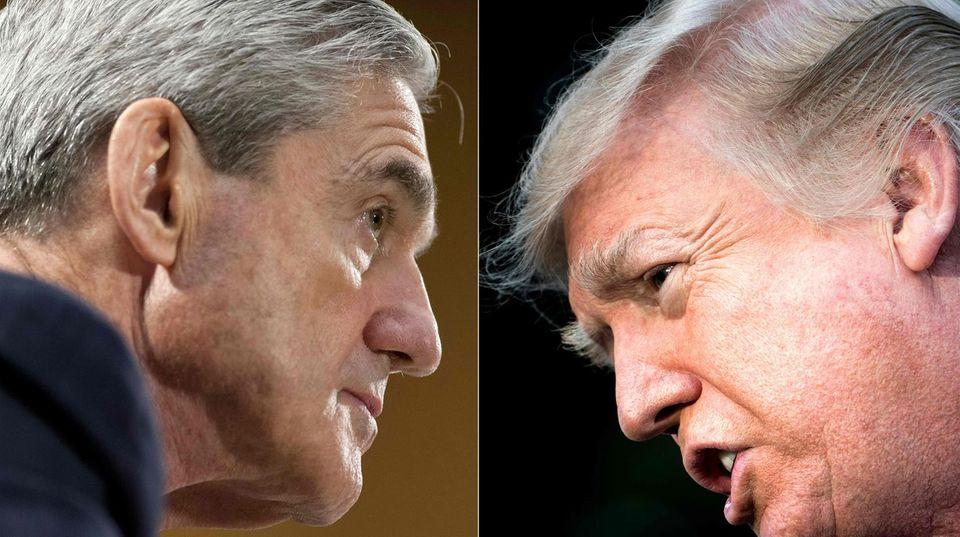 FBI-Sonderermittler Robert Mueller (l.) untersucht mögliche Russland-Verbindungen von US-Präsident Donald Trump