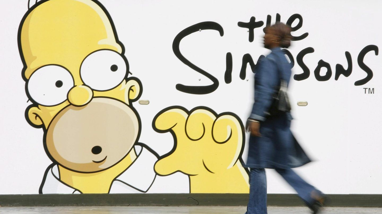 Ein Werbeplakat zeigt Homer Simpson