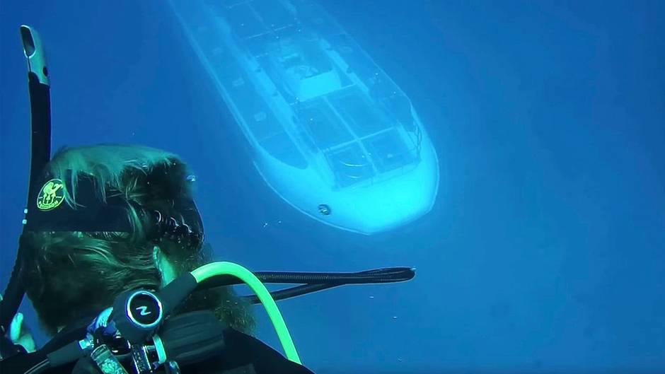 Unheimliche Begegnung: U-Boot nähert sich plötzlich Tauchern - und das ist kein Zufall