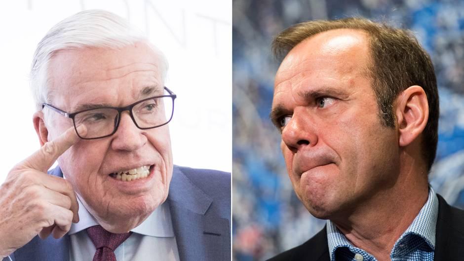 HSV-Investor Klaus Michael Kühne und HSV-Aufsichtsratschef Bernd Hoffmann