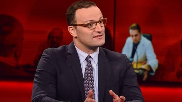 """Gesundheitsminister Jens Spahn, CDU, am Montagabend in der ARD-Sendung """"Hart aber fair"""""""