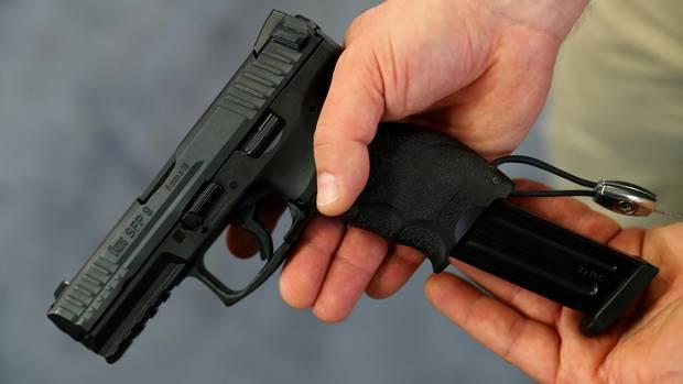 Eine Pistole des deutschen Herstellers Heckler & Koch