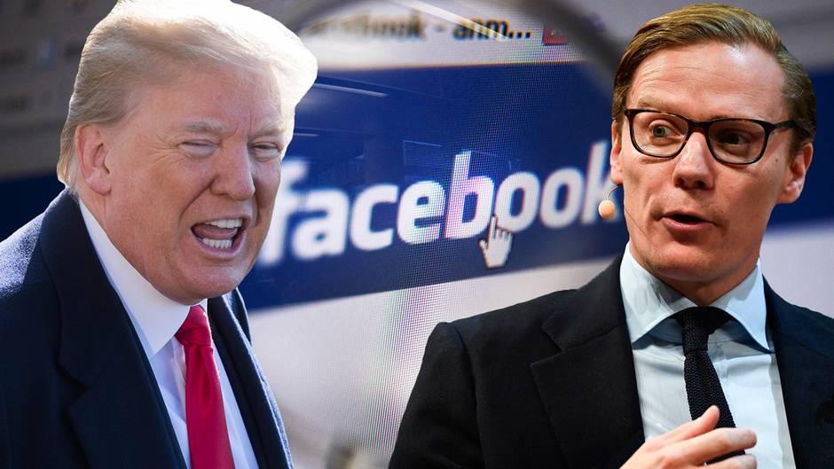 Cambridge Analytica von Alexander Nix (rechts) unterstützte Donald Trump im Wahlkampf.