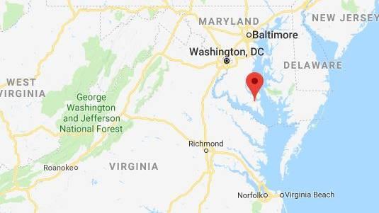Great Mills liegt im US-Bundesstaat Maryland, hier ein Screenshot von Google Maps