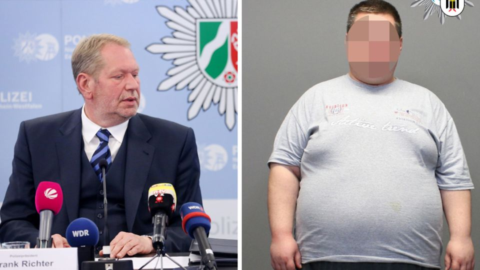 Essens Polizeipräsident Frank Richter (l.)