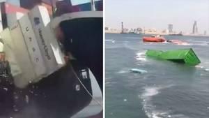Zusammenstoß zweier Containerschiffe