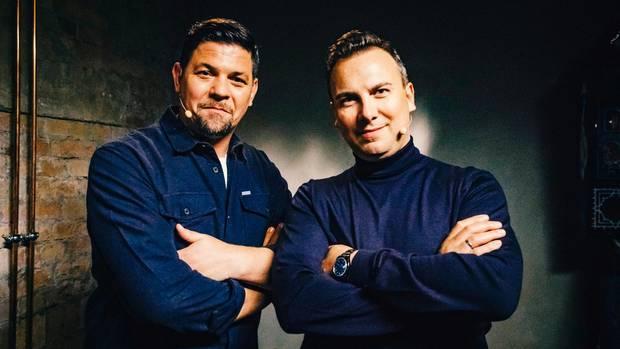 """Tim Mälzer und Tim Raue in der neuen Show: """"Knife Fight Club"""""""
