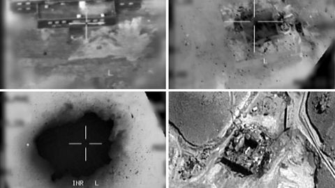 Bild der Abschusskamera während Israel den Atomreaktor in Syrien angriff
