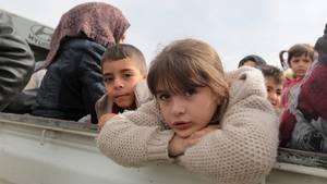 Syrische Kinder in Afrin