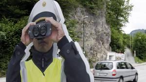 Attrappe der Tiroler Polizei
