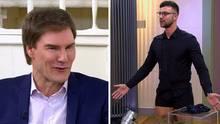 Kandidat Ned läst die Hosen runter, Carsten Maschmeyer amüsiert sich