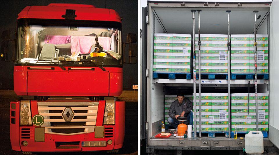Ihr Lastkraftwagen ist ihr Zuhause: Leben in Einsamkeit und Alkohol