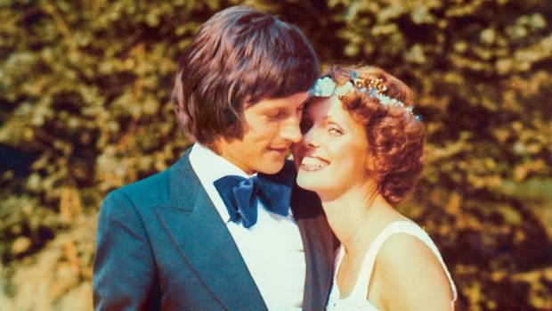 1974 bei der Hochzeit mit seiner Frau Karin