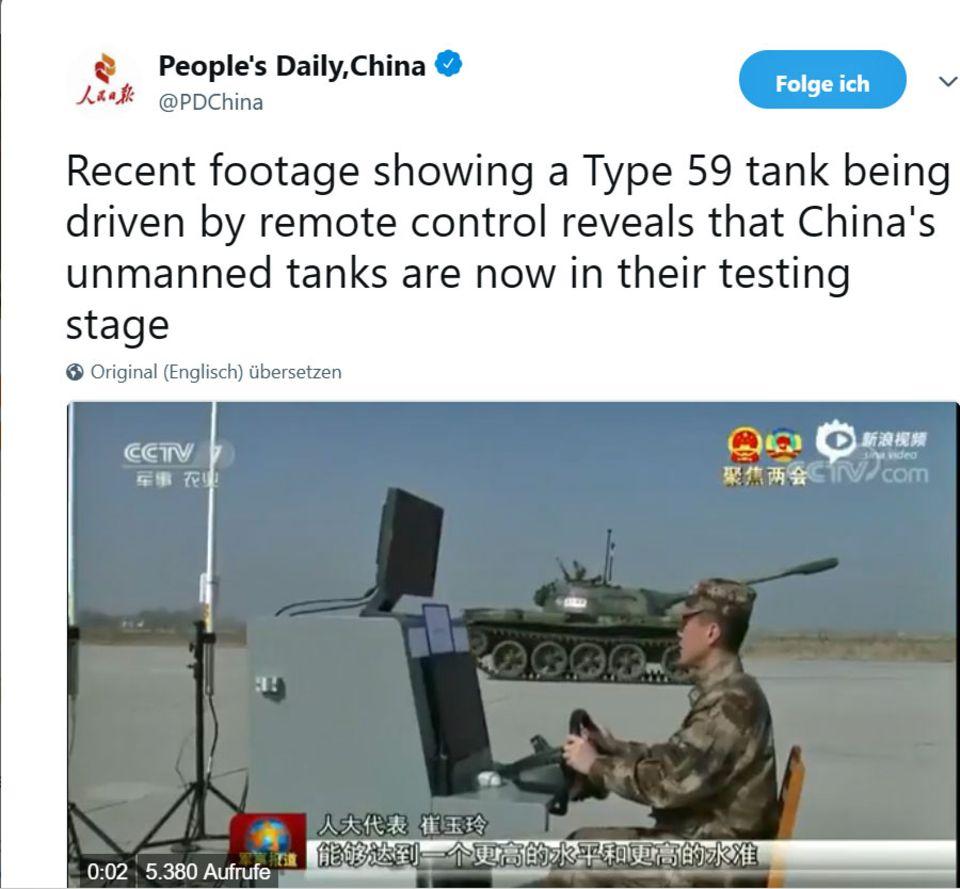 China: Panzer ohne Besatzung werden in Zukunft das Schlachtfeld bestimmen
