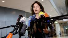 Katarina Barley vor der Presse: Die Justizministerin erwägt Verbote im Umgang mit Facebook