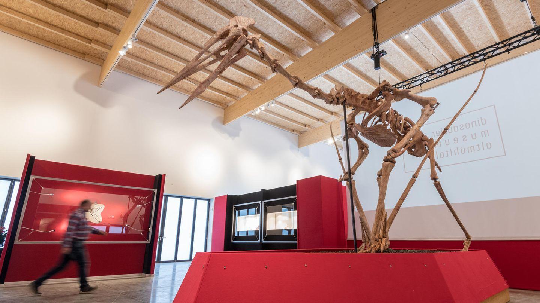 Das Modell eines Riesenflugsauriers steht im Dinosaurier Museum Altmühltal in Denkendorf